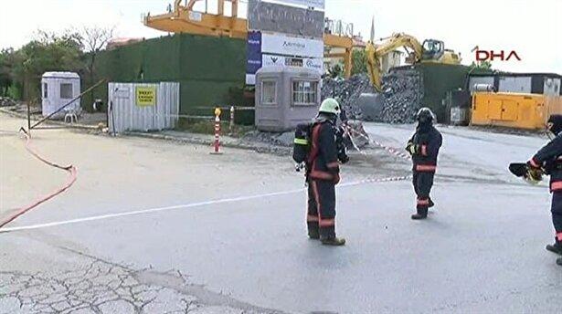 Metro inşaatında doğalgaz borusu delindi