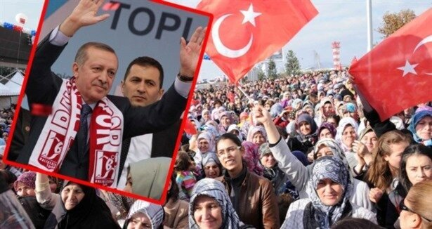 Erdoğan a karşılama sürprizi!