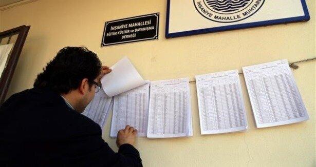 Seçmen listesi askı süresine itiraz süresi uzatıldı