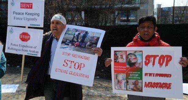 Myanmarlı Müslümanlardan  soykırımı durdurun  çağrısı