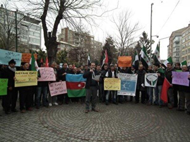 İHH Eskişehir Şubesi Suriye yönetimini protesto etti