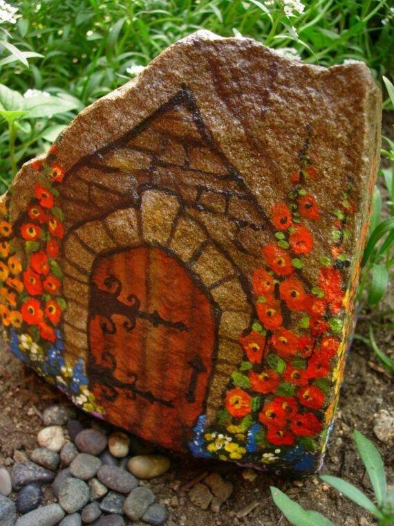 Каменные поделки своими руками фото