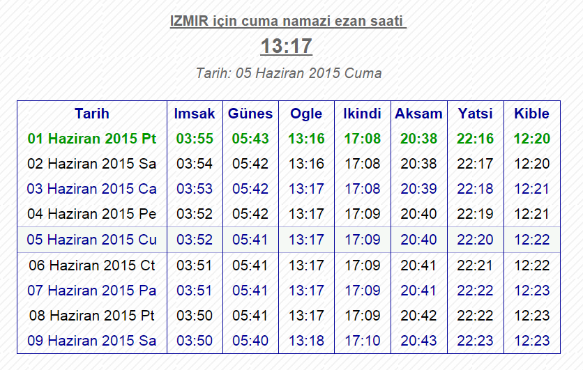 Yatsi Namazi Saati Istanbul Konya Izmir Ankara