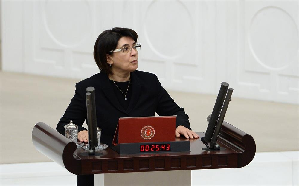 ... when she spoke Kurdish language while taking the parliamentary oath