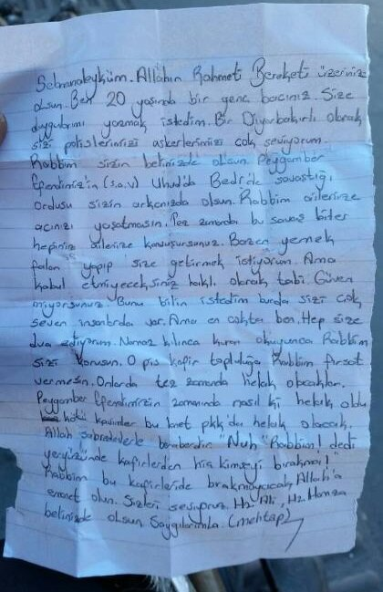 Diyarbakırlı Kızdan Polislere Ağlatan Mektup Yenisöz Gazetesi