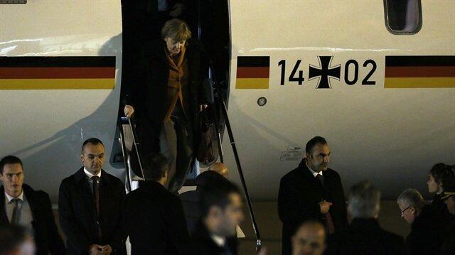 Merkel Ankara'ya geldi