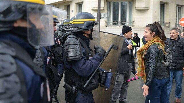 Paris'te PKK'lılara müdahale: 17'si gözaltına alındı