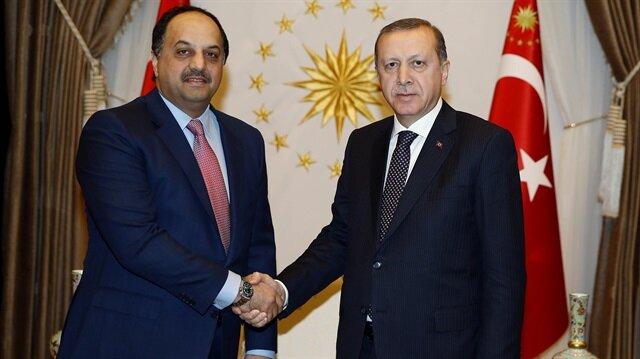 Katar Savunma Bakanı'nı kabul etti