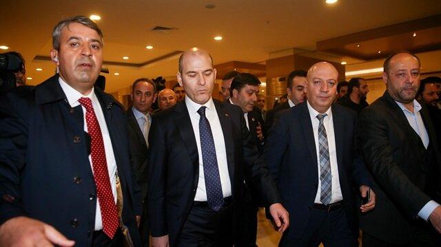 Bakan Soylu DİSK Genel Kurulu'nu terk etti