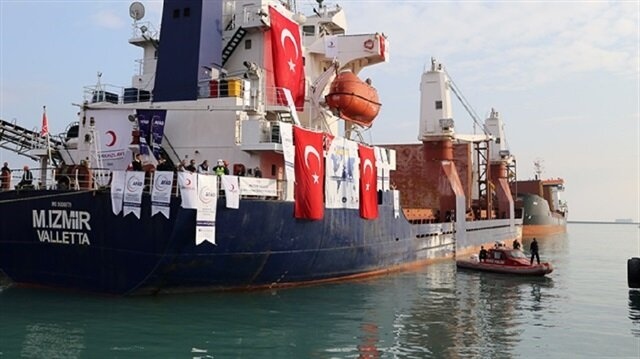 'Compassion Ship' from Turkey to its destination in Yemen