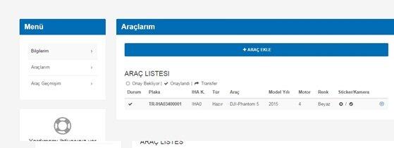 İHA uzmanı bilgilerimizi inceleyip, onaylanmasının ardından sistem drone'umuza bir plaka tahsis edecek. Örneğin TR-İHA03400001 gibisinden bir plaka verilecek bize. TR Türkiye'ye, İHA0 kategorisine, 34 bağlı olduğu şehre (burada İstanbul) ve 00001 ise plaka koduna karşılık geliyor.