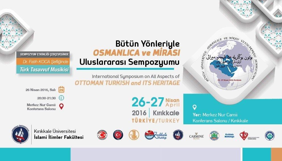 Sempozyumda Osmanlıca'nın tarihi, tarih içerisindeki yeri, Osmanlı kültür ve medeniyeti içerisindeki önemi, geçmişten geleceğe Osmanlıca'nın eğitimi gibi konular işlenecek.