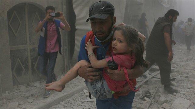 Esed tıp merkezine varil bombası yağdırdı