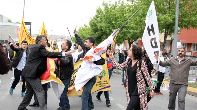 HDP'liler Bakırköy'de olay çıkardı