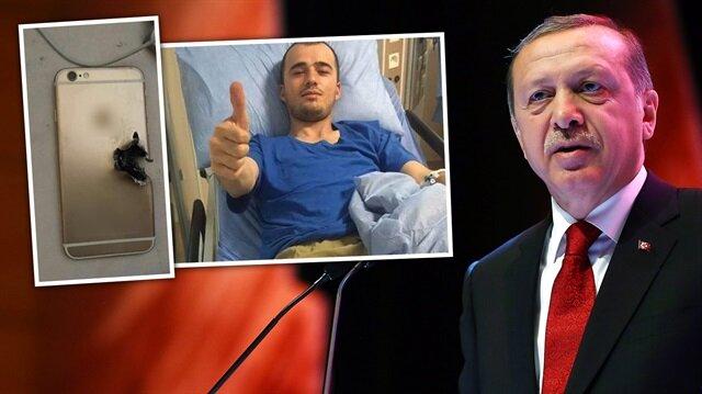 Erdoğan'dan yaralı askere telefon jesti