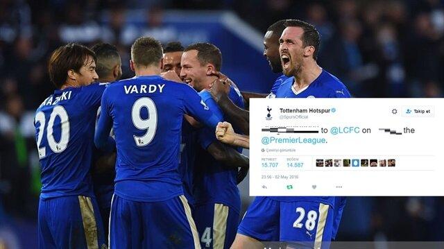 Tottenham'dan <br/>Leicester için olay paylaşım