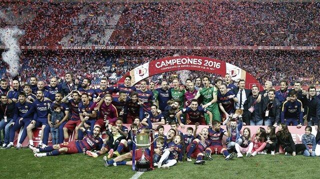 İspanya'nın <br/>'Kralı' Barcelona