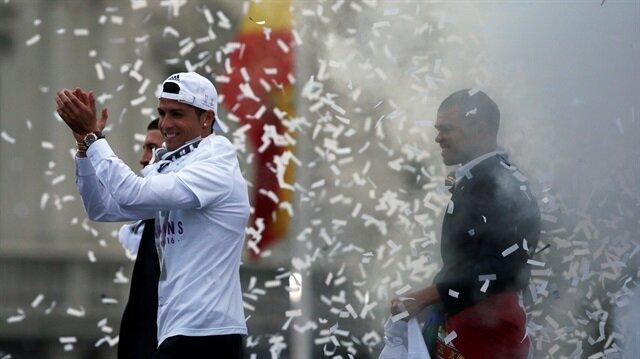 Real Madrid <br/>taraftarları kutlama yaptı