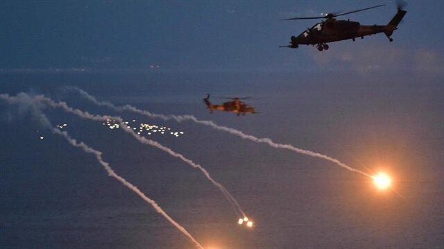 Helikopterler taarruz moduna geçti
