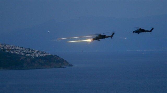 Milli helikopter ATAK'tan muhteşem gece atış tatbikatı