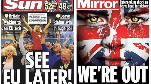 İngiliz basını 'Brexit'i böyle gördü