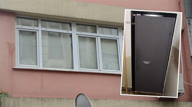 Teröristlerin kaldığı evde dikkat çeken kapı