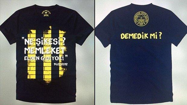 Fenerbahçe'nin Şike operasyonuyla ilgili hazırladığı iki tişörtün büyük ilgi görmesi bekleniyor.