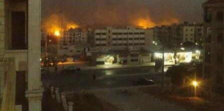 Rus ve Esed rejimine ait uçaklar sabaha  kadar Halep'e bomba yağdırdı. Şehirden  yükselen alevler kilometrelerce  ötelerden çıplak gözle görüldü.