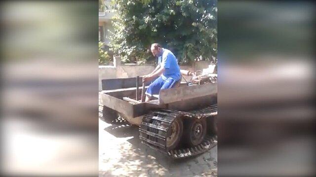 Trabzonlu vatandaş el yapımı tank üretti