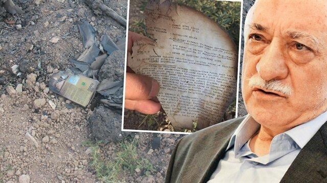 Teröristbaşı Gülen'in ismi yakılmış belgeler arasında çıktı