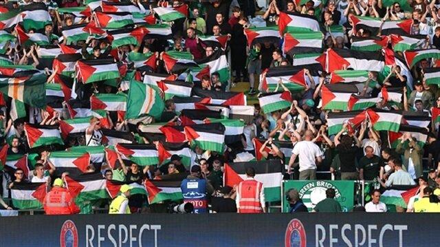 Celtic taraftarından <br/>UEFA'ya yanıt