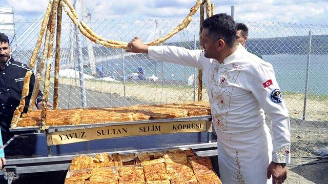 Yavuz Sultan Selim Köprüsü'ne özel börek