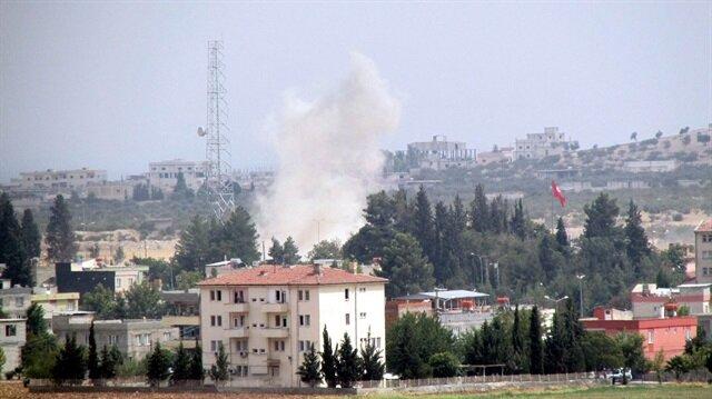 Sınırda şiddetli patlama