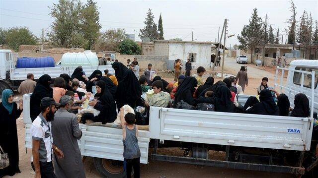Dareyya'dan çıkan siviller Hama'ya ulaştı