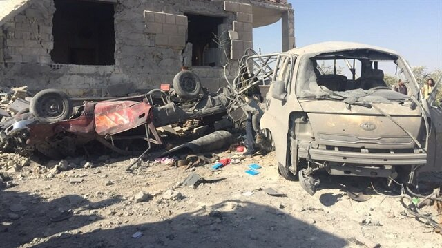 Cerablus'ta vurulan PYD-PKK hedefleri görüntülendi