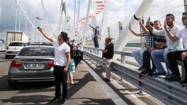 Yavuz Sultan Selim Köprüsü'nde selfie çekenler dikkat