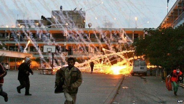 2008-2009 yılları arasında yapılan Dökme Kurşunu Saldırısı sırasında İsrail, sivillerin yoğunlukta yaşadığı ev, okul ve hastaneleri bombalamıştı.