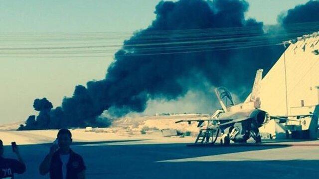 Gazze'yi bombalayan İsrail savaş uçağı düştü