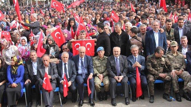 Bingöllüler 'PKK'ya lanet' için yürüdü