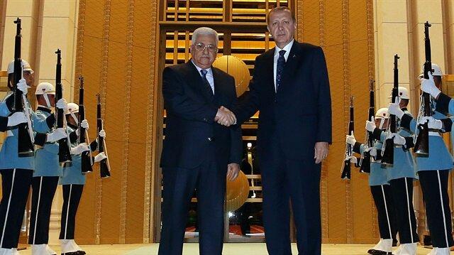 Cumhurbaşkanı Erdoğan Abbas'la görüştü
