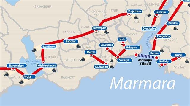 İstanbul'un altına 145 kilometre tünel