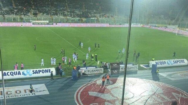 İtalya'daki deprem Pescara-Atalanta maçında hissedildi