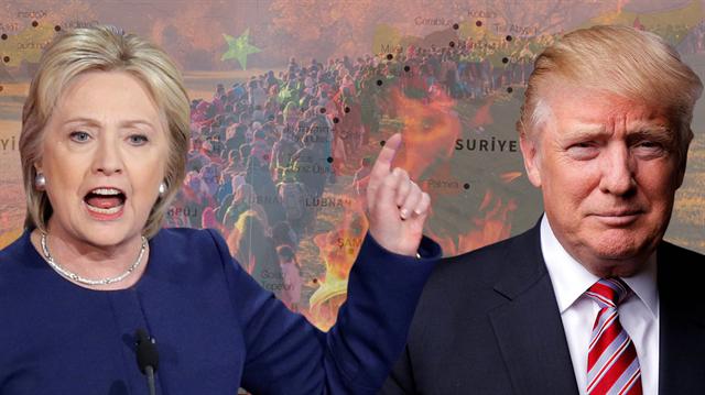 Clinton ve Trump'ın verdiği 7 söz