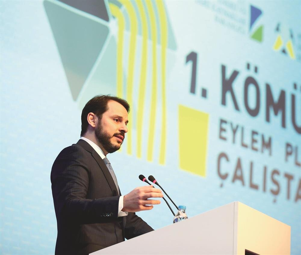 Enerji ve Tabii Kaynaklar Bakanı Berat Albayrak, İstanbul'da düzenlenen,1. Kömür  Eylem Planı Çalıştayı'na katılarak konuşma yaptı.