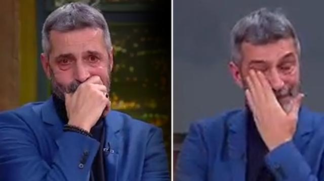 56 yaşındaki futbol yorumcusu Abdülkerim Durmaz, katıldığı programda duygu dolu anlar yaşadı.