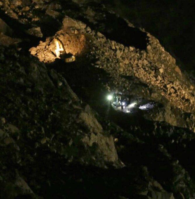 Heyelanın meydana geldiği maden