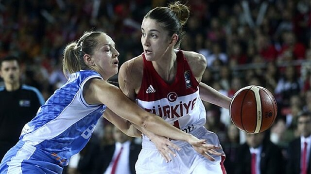 Kadın basketbolcular Avrupa Şampiyonası vizesi aldı