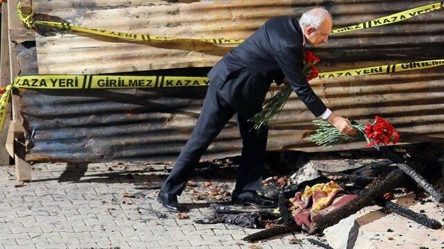 Kılıçdaroğlu Aladağ'da karanfil bıraktı