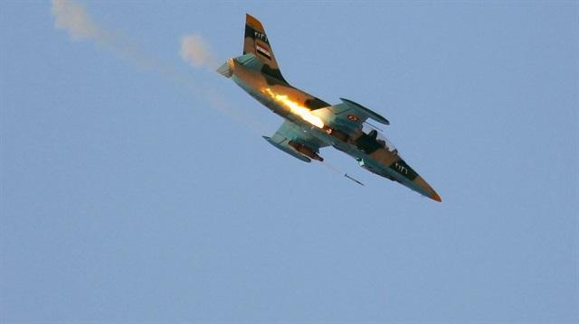 Halep'te rejimin uçağı düşürüldü