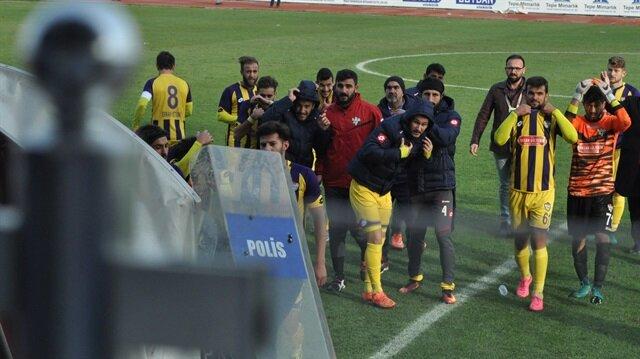 İnegölspor-Eyüpspor maçında olay çıktı
